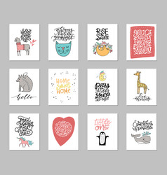 nursery art collection vector image