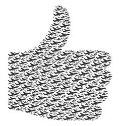 ok shape of aiplane icons vector image