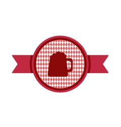 oktoberfest simple ribbon for banner and headline vector image