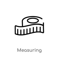 Outline measuring icon isolated black simple line vector