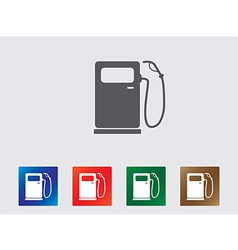 Petrol pump icons vector