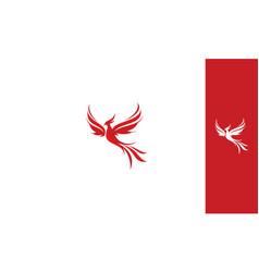 Phoenix bird logo icon vector