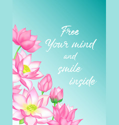 pink lotus flower bouquets with buds vector image