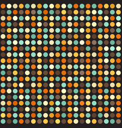Polka dot pattern seamless circle retro vector