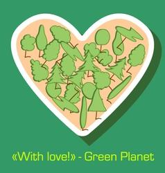 Postcard environmental protection vector