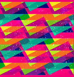 Rainbow triangle colored seamless pattern vector