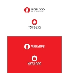 red led logo vector image