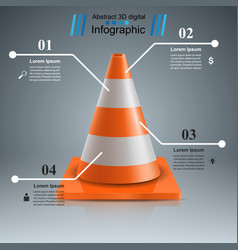 road repair - cone icon vector image