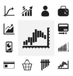 Set of 12 editable analytics icons includes vector