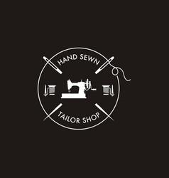 Sewing machine logo vector