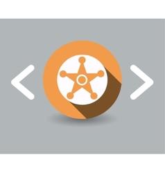 sheriff icon vector image