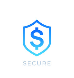 Shield and dollar icon vector