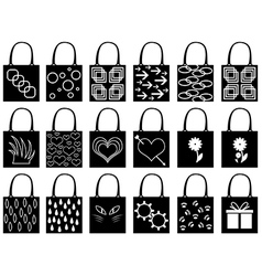 Shopping bag silhouette vector