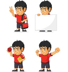 Soccer boy customizable mascot 13 vector