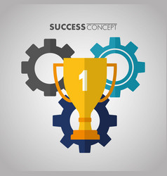 success concept card vector image