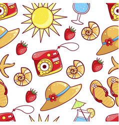 summer hand drawn pattern vector image