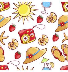 summer hand drawn pattern vector image
