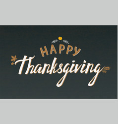 thanksgiving typography vector image