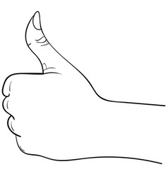 Thumbs up hand symbol on a white background vector