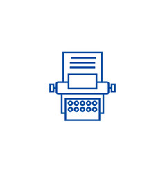 type writer line icon concept type writer flat vector image