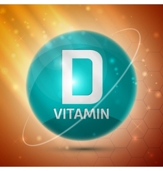 Vitamin D icon vector image