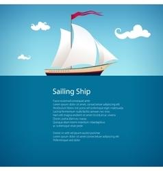 Yacht at Sea Brochure Design vector image