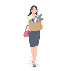 Young woman quit her job vector