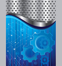 abstract background with gear vector image