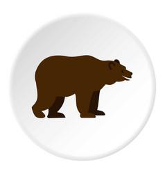 bear icon circle vector image vector image