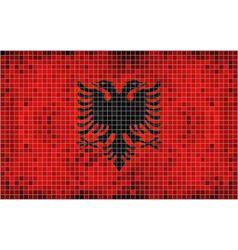 Flag of Albania - mosaic vector image