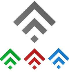 Geometric Square Logo Set vector image vector image