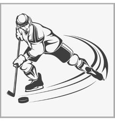 Hockey player - vector image