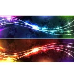 neon wave Set vector image vector image