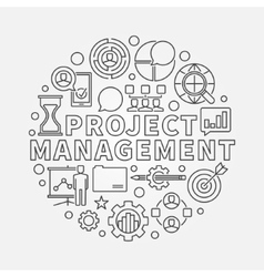 Project Management round vector image vector image