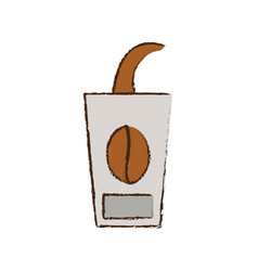 skecth cup coffee to go vector image