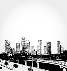 Sketch of a Big City vector image