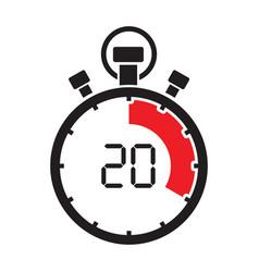 stopwatch twenty minute vector image vector image