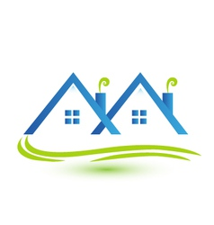 Townhouses real estate logo vector image vector image