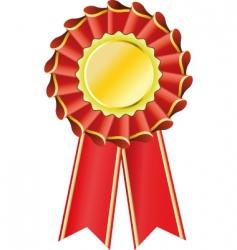 award seal rosette vector image vector image