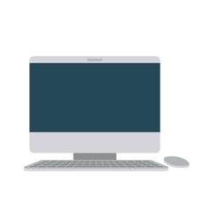 computer desktop isolated icon design vector image