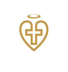 god christian love conceptual logo design vector image vector image