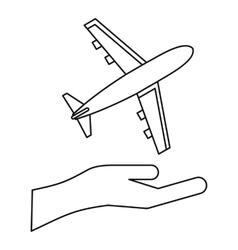 Insurance flights concept icon outline style vector image