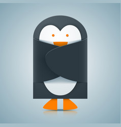 paper penguin - envelope icon vector image vector image