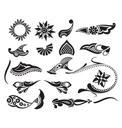 Tattoo element vector image