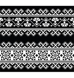 Ukrainian Slavic seamless folk embroidery pattern vector image