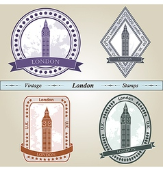 Vintage stamp London vector image