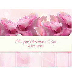 watercolor roses card happy women day vector image