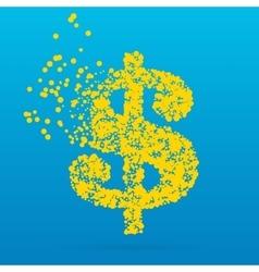 Abstract creative concept icon of dollar vector