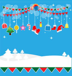 christmas party decoration gift set vector image