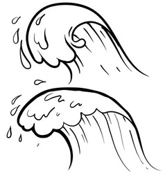 doodle waves vector image vector image